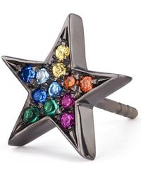 Shelly Zucker Jewelry | Large Star Earring With Stones | Lyst