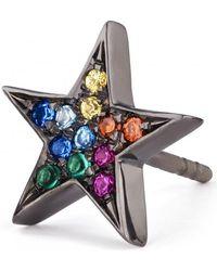 Shelly Zucker Jewelry - Multicolour Stones Large Star Earring - Lyst