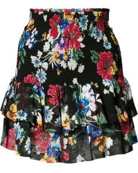 Piamita - Floral Ruffled Skirt - Lyst
