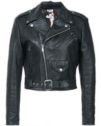 RE/DONE - Leather Jacket With Sequin Lining - Lyst