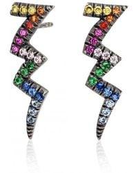 Shelly Zucker Jewelry - Multicolor Stones Thunder Earring - Lyst