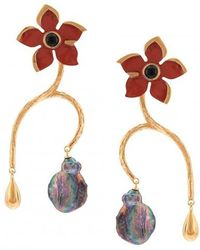 Lizzie Fortunato - Poinsettia Vine Earrings - Lyst