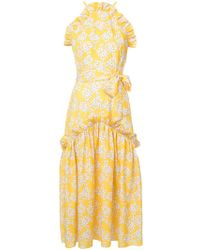 Borgo De Nor - Floral Ruffle Maxi Dress - Lyst