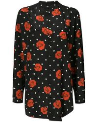 Saint Laurent - Floral Polka-dot Fitted Shirt - Lyst