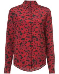 Saint Laurent - Poppy Print Shirt - Lyst