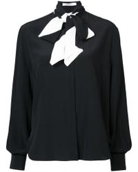 Givenchy - Long Sleeved Bow Blouse - Lyst