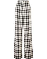 Monse - Plaid Flared Trousers - Lyst