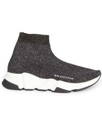Discount Very Cheap Sneaker Slip-On Baumwollmischung Logo Print rot schwarz wei? Balenciaga Best Seller lghpdNx