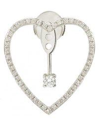Yvonne Léon - Heart Earring With Diamond And Stud - Lyst