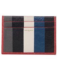 Balenciaga | Bazaar Stripe Leather Cardholder | Lyst