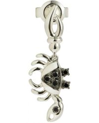 Yvonne Léon - Mini Crab Earring With Black Diamonds - Lyst