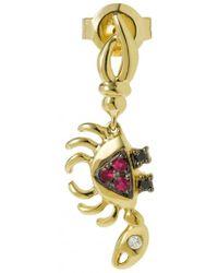 Yvonne Léon - Mini Crab Ruby, Gold And Diamond Earring - Lyst
