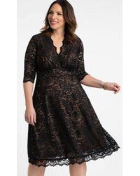 ba1a0980b54 Lyst - Kiyonna Lumiere Lace Dress in Black