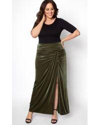 Kiyonna - Velvet Opulence Maxi Skirt - Lyst