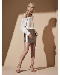 Krisa - One Shoulder Cutout Long Sleeve - Lyst