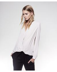 Krisa - Surplice Long Sleeve - Lyst
