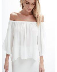 Krisa - Off Shoulder Drape Top - Lyst