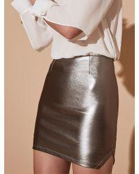 Krisa - Platinum Mini Skirt - Lyst