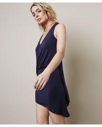 Krisa - Asymmertical Surplice Mini Dress - Lyst