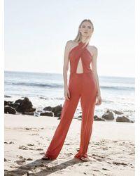 Krisa - Cross Front Jumpsuit - Lyst