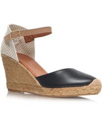 KG by Kurt Geiger - Monty High Heel Espadrille Wedges - Lyst