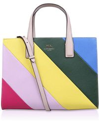 Kurt Geiger | New Saffiano London Leather Tote Bag | Lyst