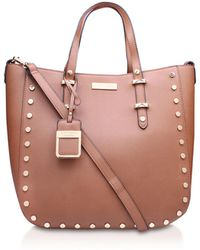 Carvela Kurt Geiger - Petra Stud Shopper In Tan - Lyst