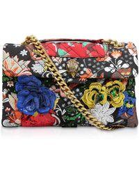 Kurt Geiger - Fabric Kensington X Bag In Orange - Lyst