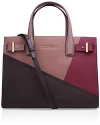 Kurt Geiger - New Saffiano London Tote In Pink Combination - Lyst