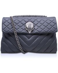 Kurt Geiger | Lthr Xxl Kensington Bag In Grey | Lyst
