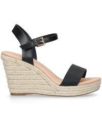 873e90f2b25 Miss Kg - Black  paulina  Mid Heel Wedge Sandals - Lyst