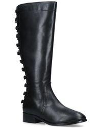 Nine West - Black 'bayley' Leather Knee High Boots - Lyst
