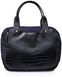 Kurt Geiger - Nylon Croc Gym Bag - Lyst