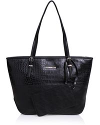 Nine West - Society Girl Tote Md In Black - Lyst