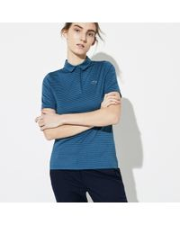 75d2505b Lacoste - Sport Snap Neck Striped Technical Golf Polo - Lyst