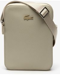 Lacoste - Chantaco Soft Leather Vertical Bag - Lyst