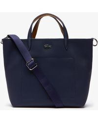 Lacoste - Anna Reversible Coated Piqué Canvas Tote Bag - Lyst