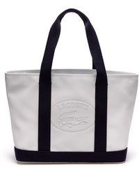 Lacoste - Classic Coated Piqué Canvas Zip Tote Bag - Lyst