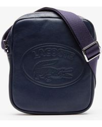 Lacoste - L.12.12 Casual Embossed Lettering Vertical Leather Bag - Lyst