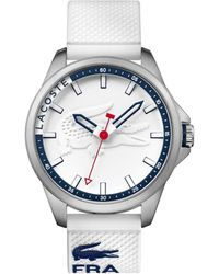 Lacoste - Men's Capbreton White Silicone Strap Watch 46mm 2010841 - Lyst