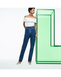 Lacoste - Fashion Show High-waisted Denim Jeans - Lyst