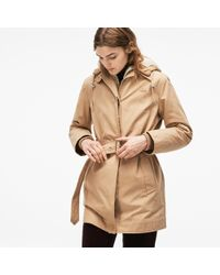 Lacoste - 3-in-1 Detachable Jacket Hooded Cotton Canvas Parka - Lyst