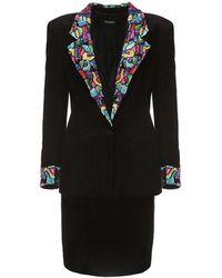 La Double J - Suede Skirt & Jacket Set With Colored Sequins - Lyst
