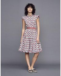 La Double J - Short And Sassy Dress Galletti In Cotton - Lyst