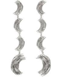 Lady Grey - Frida Earrings In Rhodium - Lyst