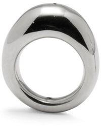 Lady Grey - Organic Ring In Rhodium - Lyst