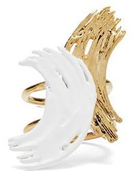 Lady Grey - Alma Ring In Gold And White - Lyst