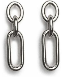 Lady Grey - Trés Link Earring In Silver - Lyst