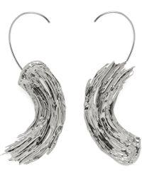 Lady Grey - Eva Earrings In Rhodium - Lyst
