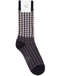 Y's Yohji Yamamoto - Houndstooth Socks - Lyst